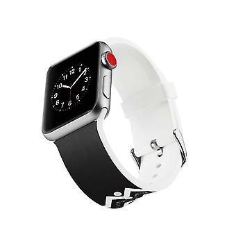 Siliconen horlogebandje voor Apple Watch 4 44mm, 3/2/1 42mm-twill