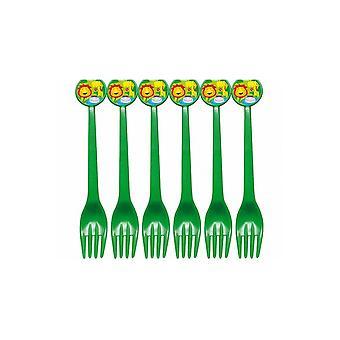 Party favors Children Plastic Forks Jungle Party 6 pieces