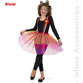 Regenbogen Damen Kostüm Einhorn Wettergirl Clown Teenager Damenkostüm