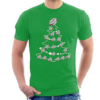 Rugby Union boule sapin boules T-Shirt homme