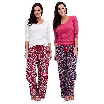 2 pack damer Tom frankerne blomstermotiver Udskriv vinteren lang pyjamas pyjamas nattøj