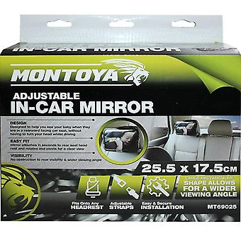 Montoya In Car Adjustable Baby Mirror, 25.5 cm x 17.5 cm Wider Viewing