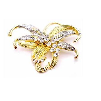 Kunstnerisk udformet guld bue broche Pefect For bryllup kjole Skærfer