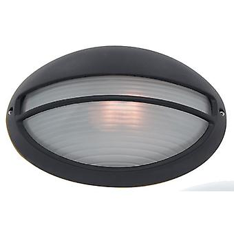 Svart ovale utendørs vegg skott lys - søkelys 5544BK
