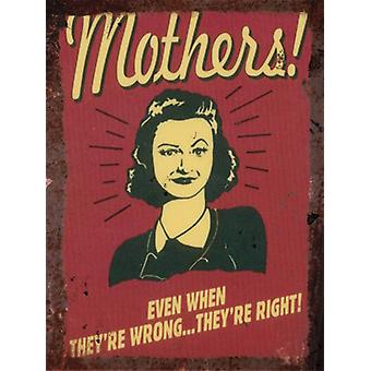 Vintage Metal Wall Sign - Mothers!