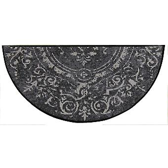 Salon lion doormat Amira grey half round 42 x 85 cm. washable dirt mat
