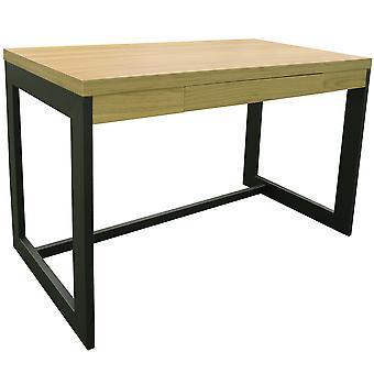 Funda - Büroarbeitsplatz / Computer-Schreibtisch mit Schublade - Eiche / schwarz