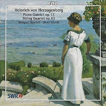 H. von Herzogenberg - Heinrich Von Herzogenberg: Pianokwintet, Op. 17; Strijkkwartet, Op. 63 [CD] USA importeren