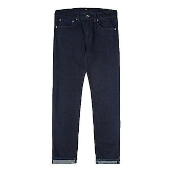 Edwin ED80 Slim Tapered Jeans CS Red Listed  Denim  Rinsed