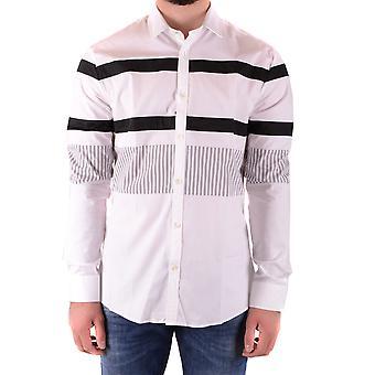 Les Hommes Urban Ezbc260007 Men's White Cotton Shirt