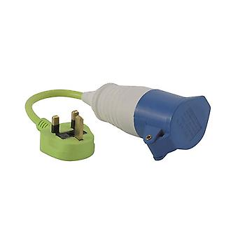 Outwell Lime Green Conversion Lead Plug Uk