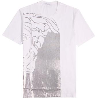 Versace Collection Half Medusa T-shirt Black & Gold