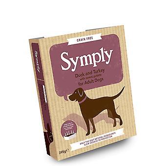 Symply Duck - Turquie pour chiens adultes 395g plateau humide - 1 x 395g