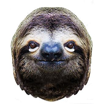 Sloth Animal Single 2D Card Party Fancy Dress Mask