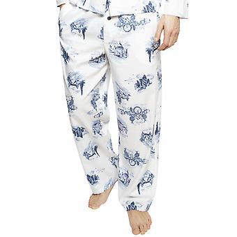 Cyberjammies 6401 Männer's Harper white Mix London Print Baumwolle Pyjama Hose