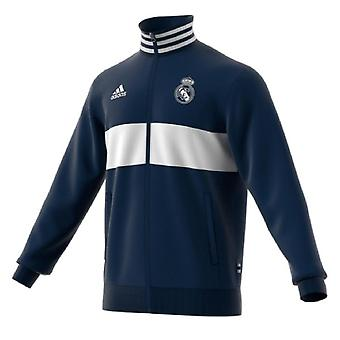 2019-2020 Real Madrid Adidas 3S Track Top (Solid Grey)
