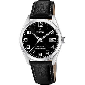 פסטינה-שעון יד-גברים-F20446/3-רצועת פלדה קלאסית
