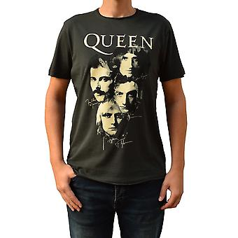 Amplified Queen Autographs Charcoal Crew Neck T-Shirt L