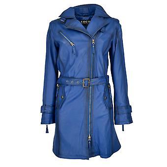 Kvinders læder frakke Lina