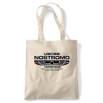 USCSS Nostromo ulkomaalainen elokuva innoittamana, Tote-uudelleenkäytettäviä ostos kangas laukku lahja