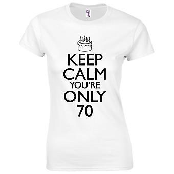 70th Birthday Gifts for Women Her Keep Calm 70th T-Shirt