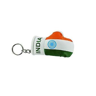 Porte Cles India Guanto Boxe Bandiera Bandiera Cle Key Chiavi Indiane