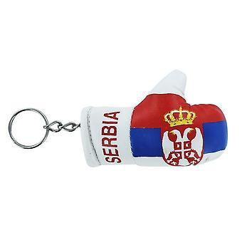 Porte cles danemark gant de boxe drapeau flag cle clef clefs danois