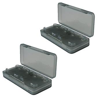 Game case for nintendo switch 4 in 1 card holder storage box - 2 pack black