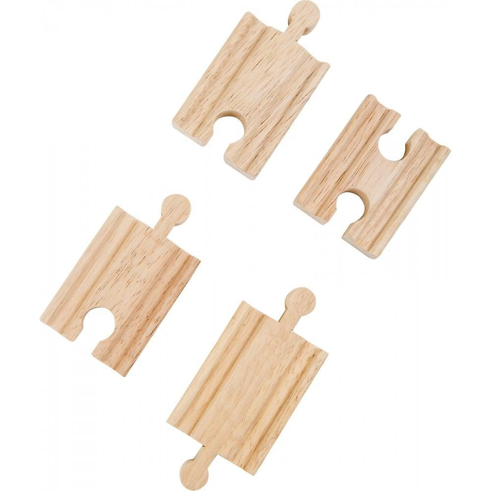 Small Foot Wooden Railway Track  4 Short Inc Double In & Out