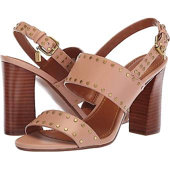 Coach Womens Rylie Canvas Peep Toe Casual Slingback Sandals