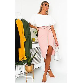 IKRUSH Womens Toni stropdas taille Batwing Midi jurk