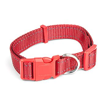 Medium Red Adjustable Reflective Collar