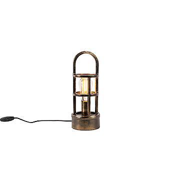 QAZQA Art Deco table lamp bronze 35 cm - Kevie