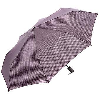 Perletti21611 Gent Mini 3 secties twill patroon winddichte microfiber paraplu