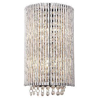 Endon Galina 2 ljus vägg ljus krom platta & klar kristall 81978