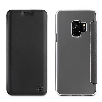 Galaxy S9 Folio Black Case - Muvit