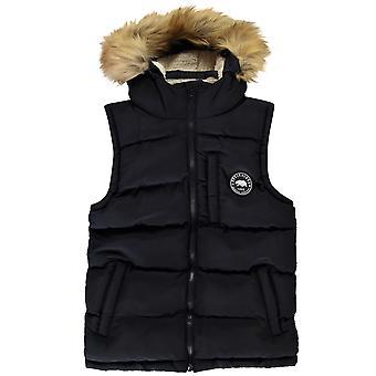 Soulcal Boys Kids Full Zip Front Hooded Sleeveless Warm Vest Gilet Jacket Top