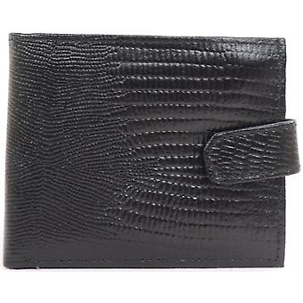 Mens Leather Snake Effect Wallet with Multiple Feautres
