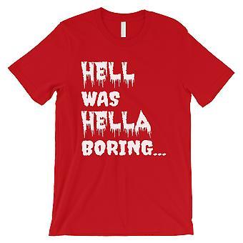 地獄はヘラ退屈なハロウィーンの衣装面白いメンズ赤いTシャツだった