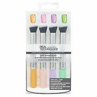 Real Techniques Color Corrección de Maquillaje Cepillo Regalo Conjunto 4 Piezas