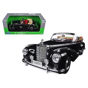 1955 Mercedes 300S Cabrio schwarz 1/18 Diecast Modellauto von Welly