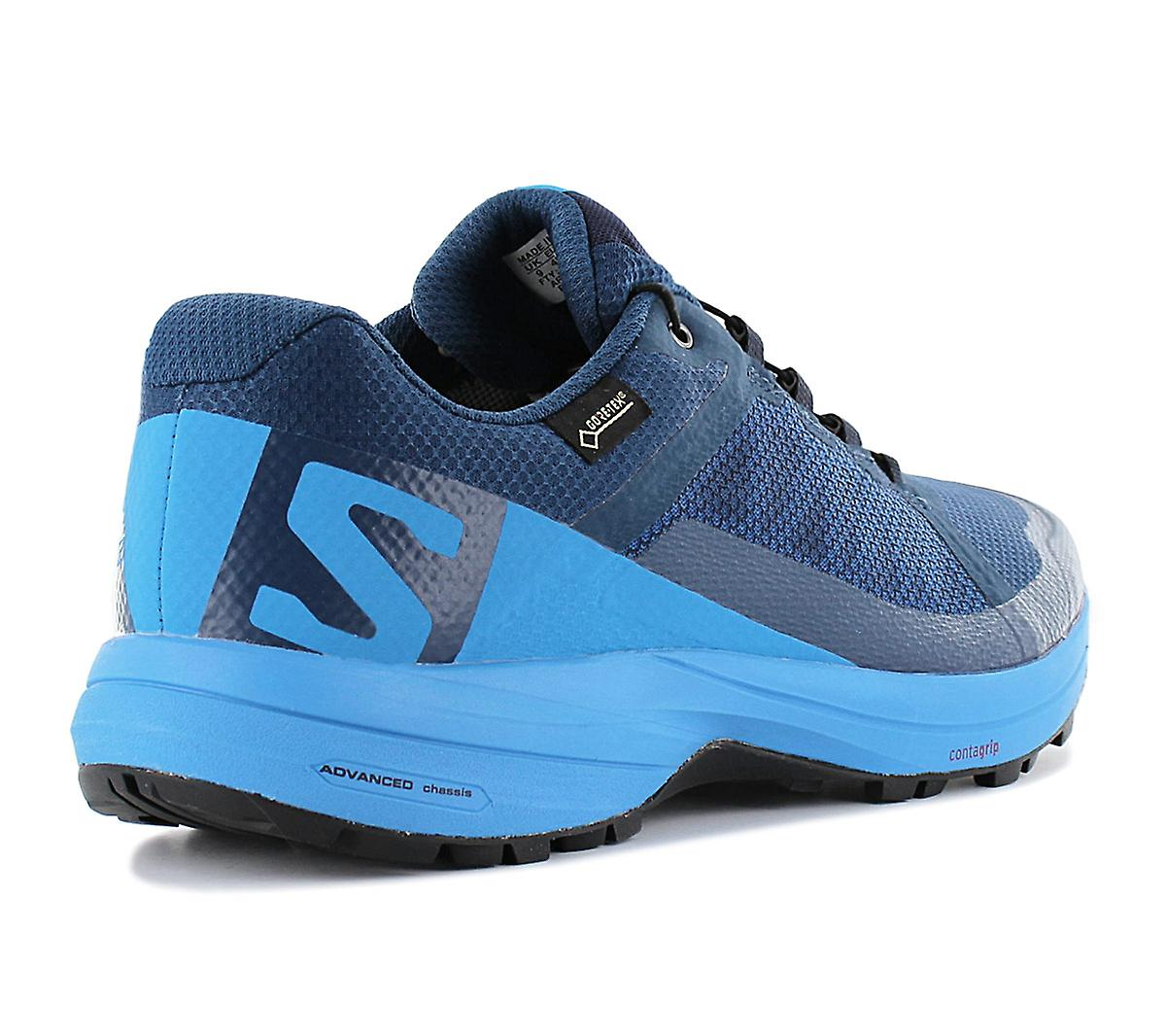 Salomon XA Élever GTX Gore-Tex 402398 Chaussures pour hommes Chaussures Bleues Chaussures de sport Chaussures de sport
