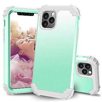 Voor iPhone 11 Pro PC+ Siliconen Driedelige Anti-dropback Cover Green