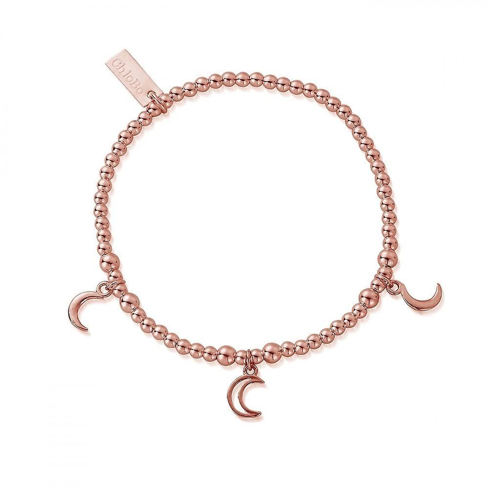 ChloBo Rose Gold Triple Moon Bracelet