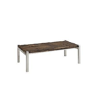 Mesa de Café Leve e Vivo 120x68x40cm Sotos Wood-Nickel