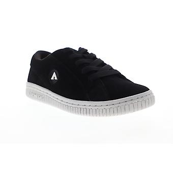 Airwalk Bloc  Womens Black Suede Lace Up Athletic Skate Shoes