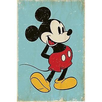 Mickey Mouse, Maxi Poster - Retro