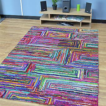Katoen Chindi Galaxy veelkleurige tapijten 03