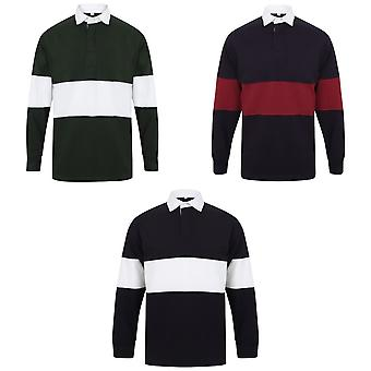 Front Row Adults Unisex Panelled Tag Free Rugby Shirt