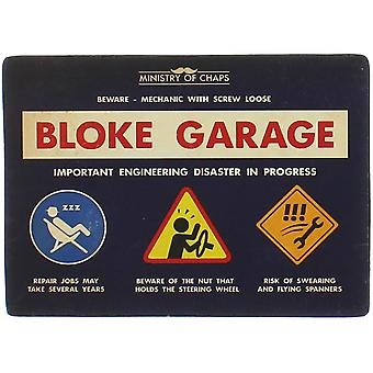 Bloke Garage Metal Sign - Ministry of Chaps by Harvey Makin - Dad Funny Plaque